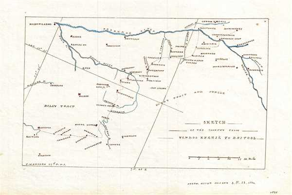 Sketch of the Country from Tendoo Kherie to Baitool.
