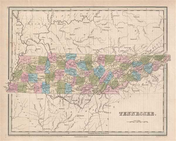 Tennessee.: Geographicus Rare Antique Maps