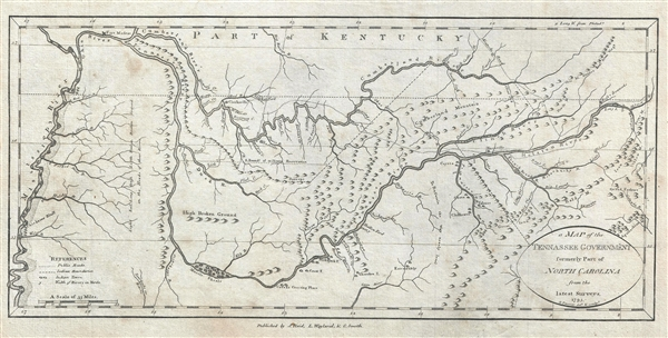 A Map of the Tennassee Government formerly Part of North Carolina from the latest Surveys. 1795.