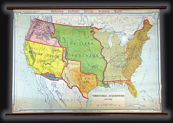 Territorial Acquisitions 1776-1866.: Geographicus Rare Antique Maps