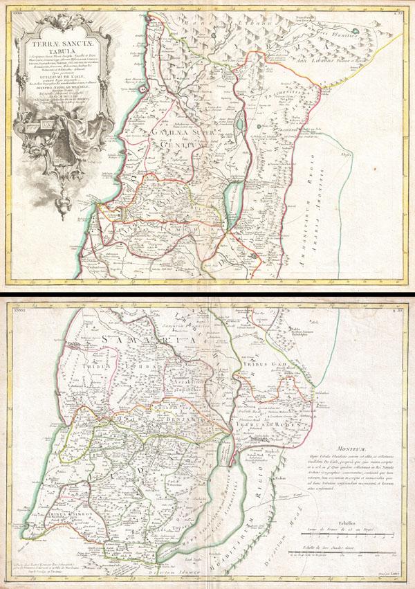 Terrae Sanctae Tabula e Scripturae Sacrae, Flavii Josephi, Eusebii et Divi Heironymi �