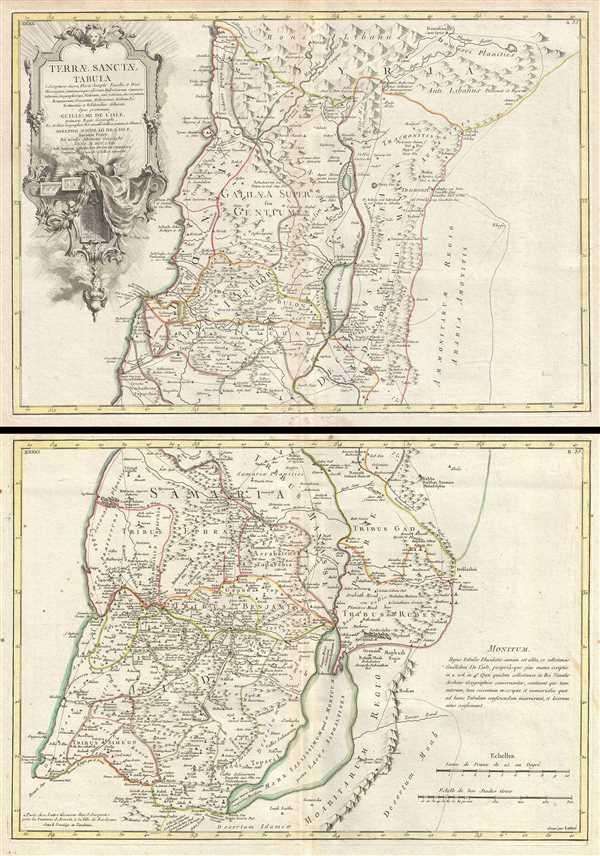 Terrae Sanctae Tabula e Scripturae Sacrae, Flavii Josephi, Eusebii et Divi Heironymi … - Main View
