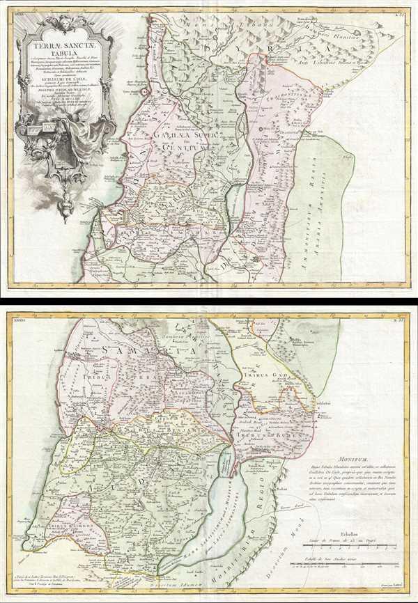 Terrae Sanctae Tabula e Scripturae Sacrae, Flavii Josephi, Eusebii et Divi Heironymi …
