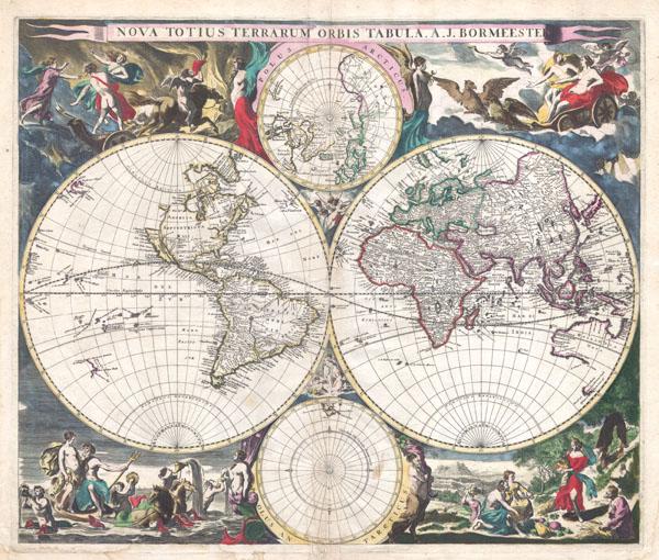 Nova Totius Terrarum Orbis Tabula. A. J. Bormeester.