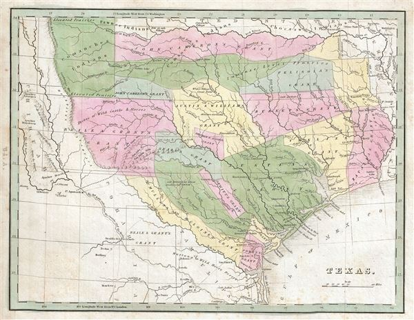Map Of Texas 1835.Texas Geographicus Rare Antique Maps