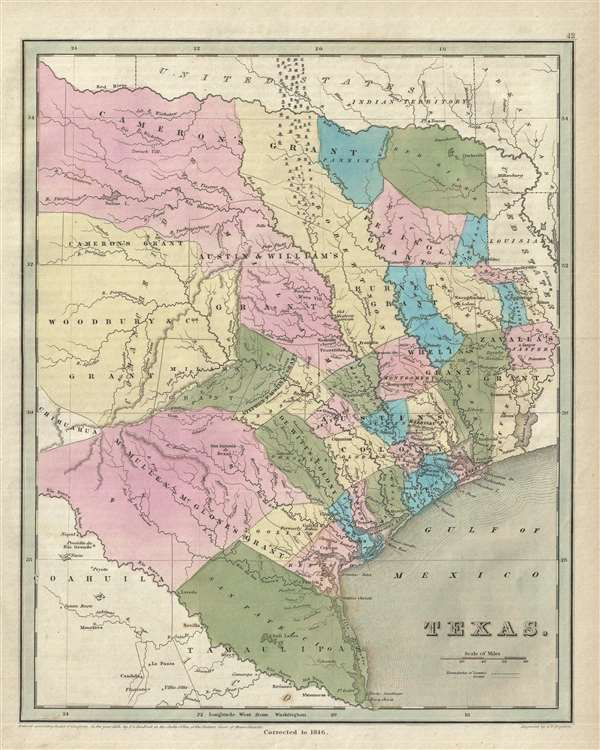 Map Of Texas Showing Austin.Texas Geographicus Rare Antique Maps
