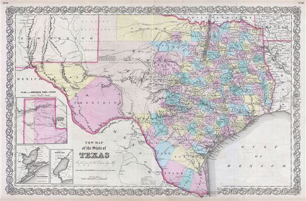 New Map of the State of Texas compiled from J. De Cordova's Large Map.