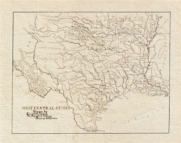 West Central States.  Drawn by Ernest W. Dubois, St. Augustine College, Benicia, California.