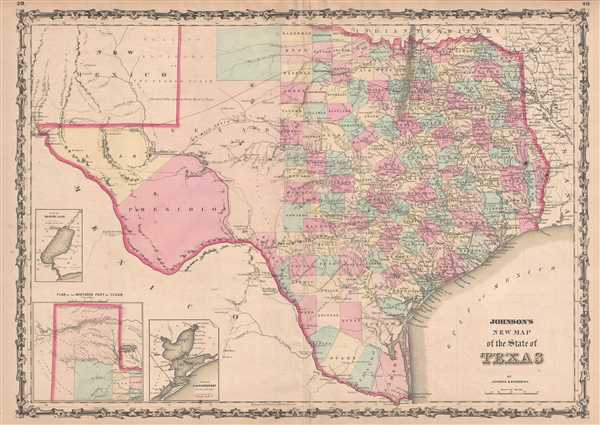 Johnson's New Map of the State of Texas. - Main View