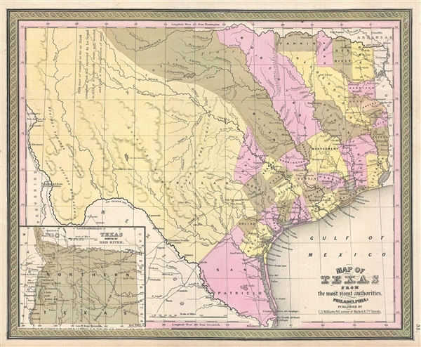 Map of Texas from the most recent authorities. - Main View