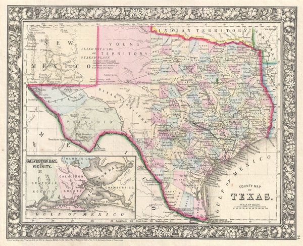 County Map of Texas. - Main View