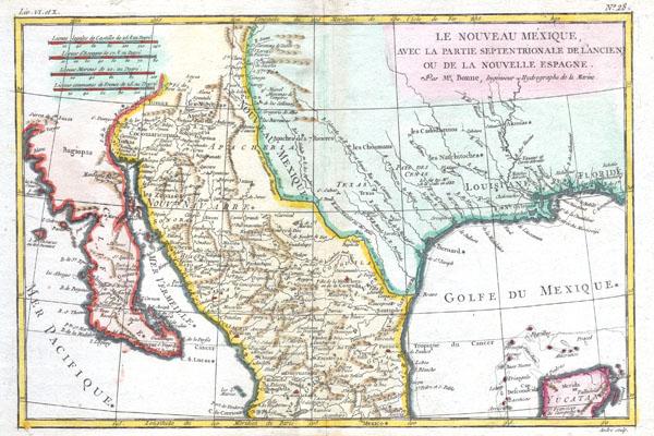 Le Nouveau Mexique, avec la Partie Septentrionale de l'Ancien, ou de la Nouvelle Espagne. - Main View