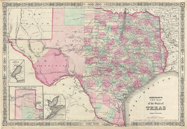 Johnson's New Map of the State of Texas.