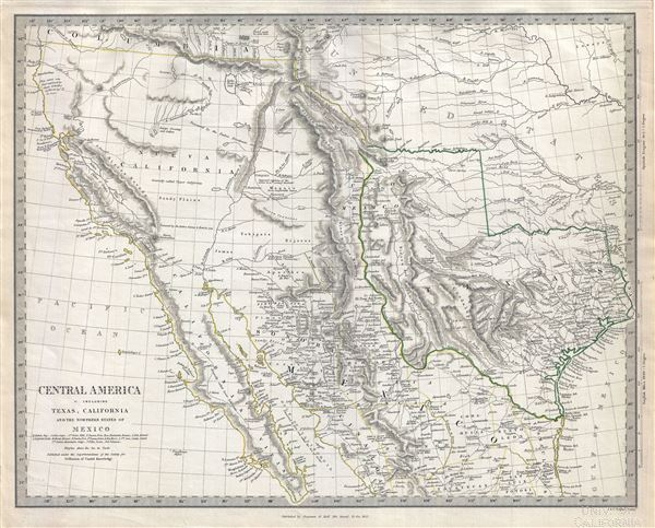 Central America II. Including Texas, Califnoria and th Northern States of Mexico. - Main View