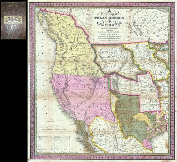 A New Map of Texas Oregon and California with the Regions Adjoining. - Main View
