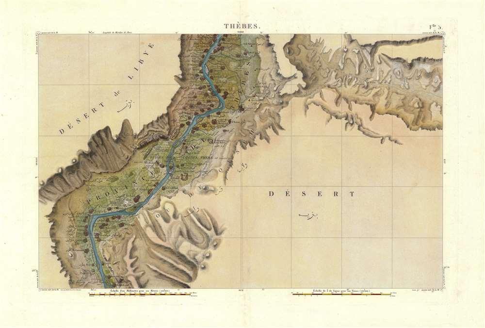 Flle. 5. Thebes. Carte topographique de l'Egypte et de plusieurs parties des pays limitrophes...) - Main View