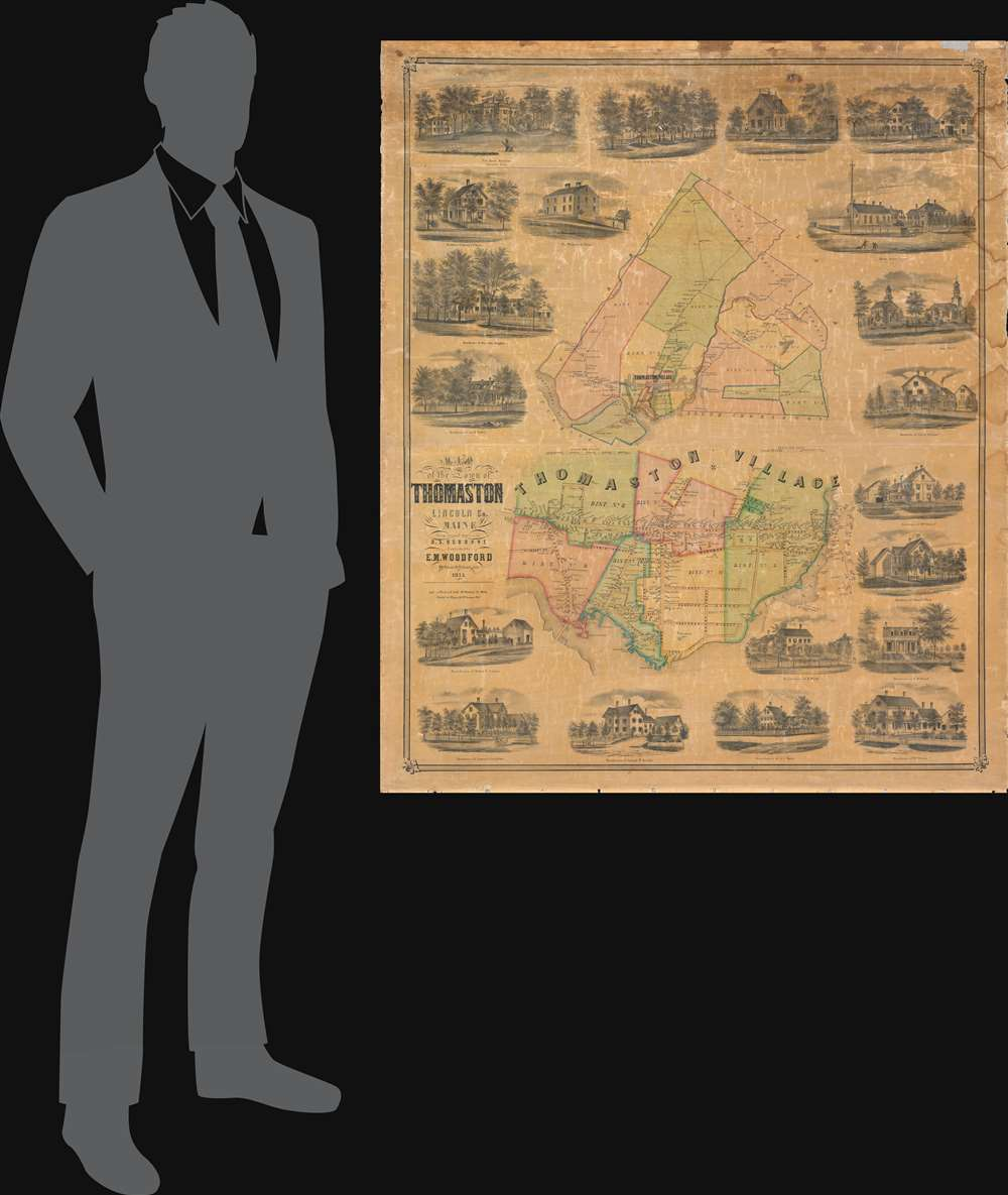 Map of the Town of Thomaston Lincoln Co. Maine. - Alternate View 1