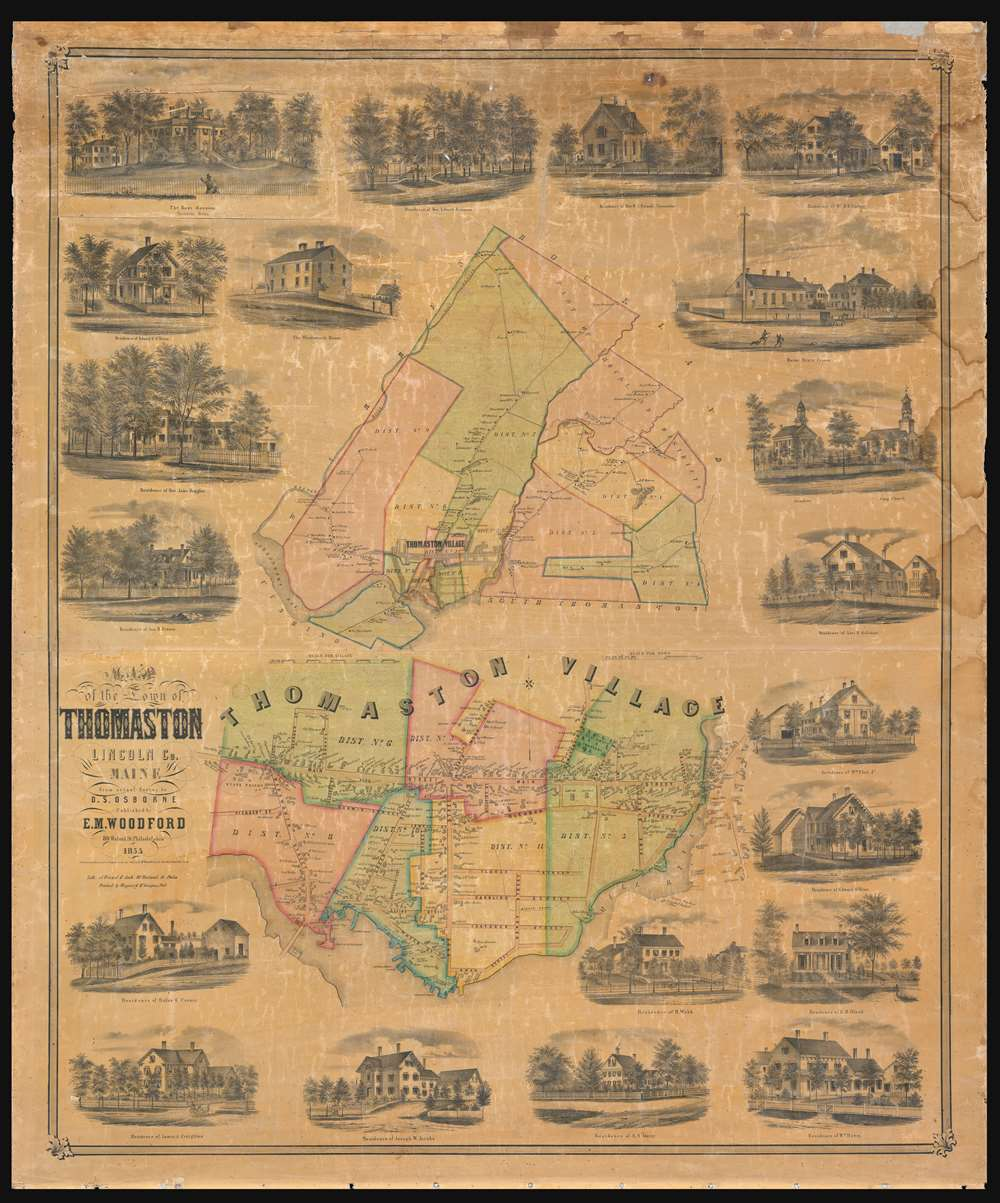 Map of the Town of Thomaston Lincoln Co. Maine. - Main View