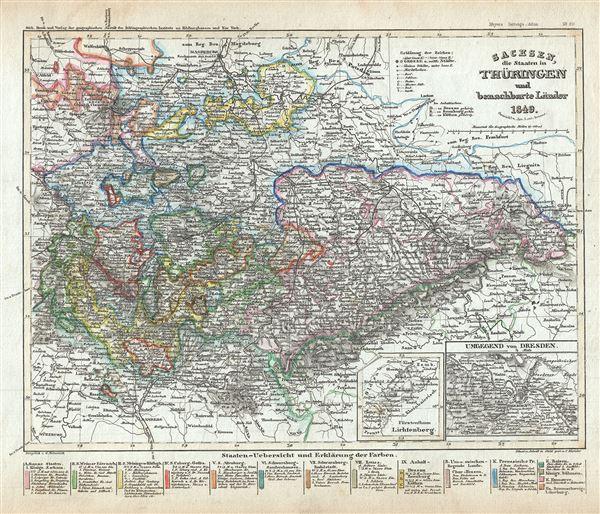 Sachsen, die Staaten in Thuringen und benachbarte Lander.