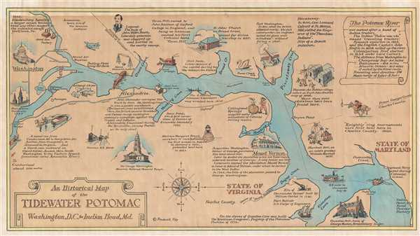 An Historical Map of the Tidewater Potomac Washington, D.C. to Indian Head, Md.