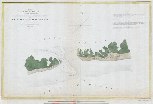 (H No. 5)  Preliminary Reconnaissance of the Grand Pass the Entrance to Timballier Bay, Louisiana. - Main View