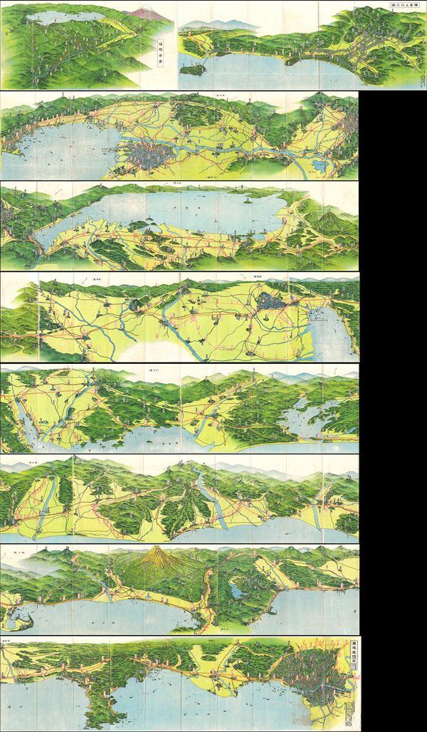 Tokaido Panorama Map. - Main View