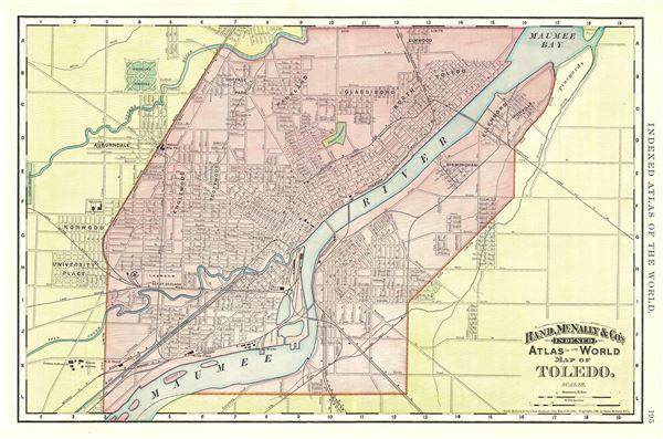 Map of Toledo.
