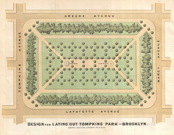 Design for the Laying Out Tompkins Park - Brooklyn. - Main View