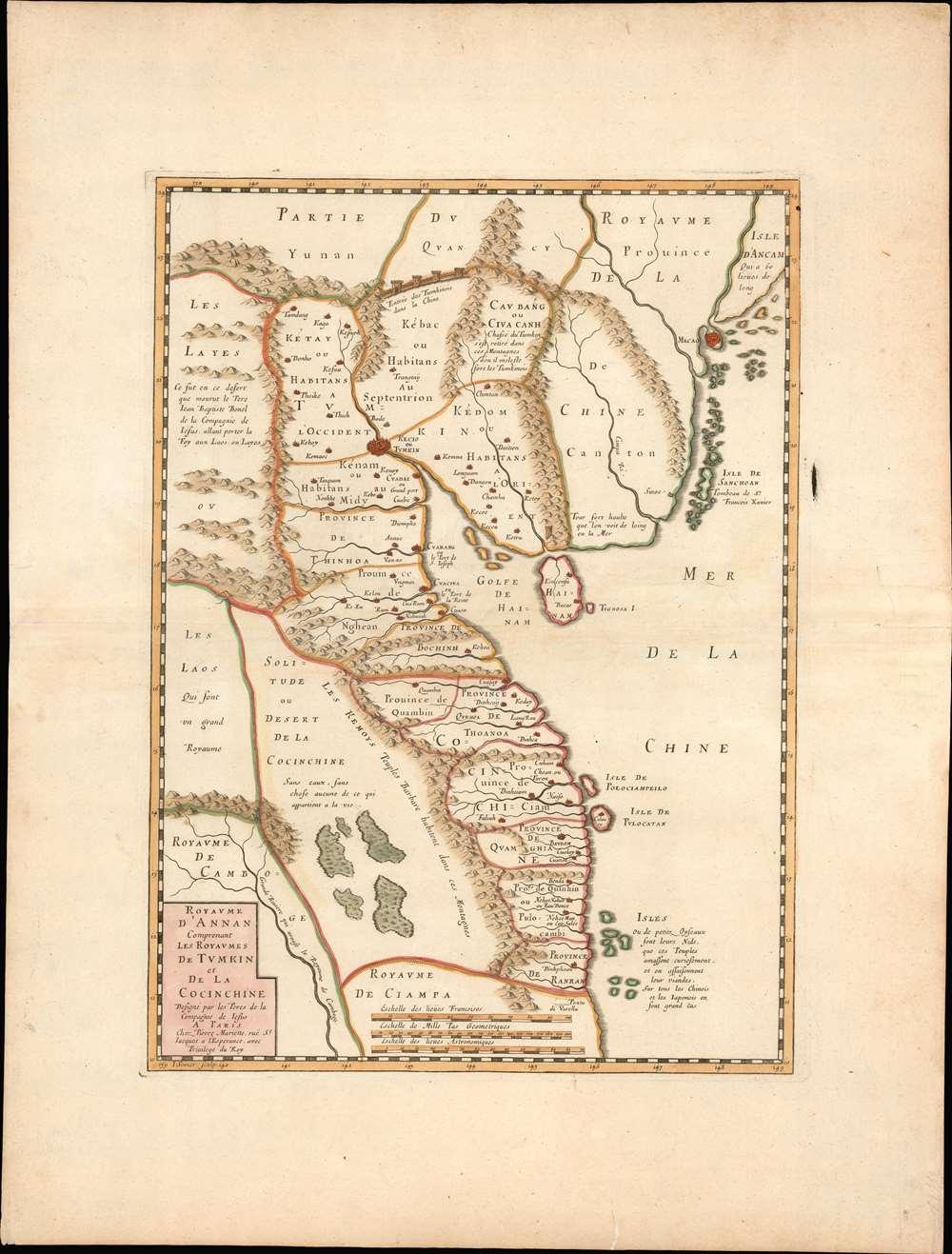 Carte du Royaume d'Annam, comprenant les Royaumes du Tumkin et de la Cocinchine. - Alternate View 1