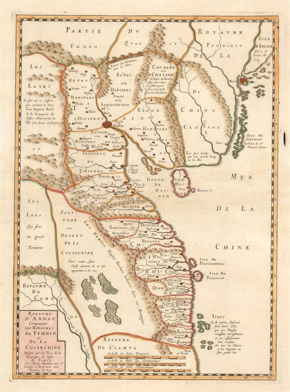 Carte du Royaume d'Annam, comprenant les Royaumes du Tumkin et de la Cocinchine. - Main View
