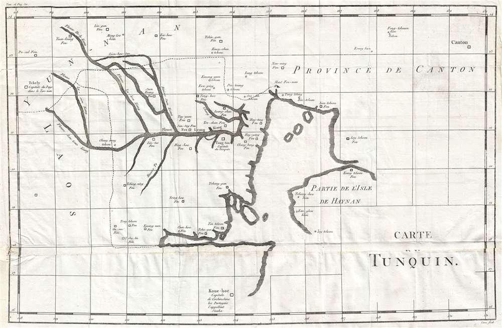 Carte du Tonquin.