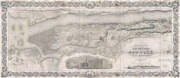 Topographical Map of the City and County of NewYork and the