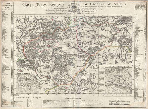 Carte Topographique du Diocese de Senlis.