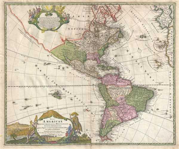 Totius Americae Septentrionalis et Meridionalis. Novissima Repraesentatio.