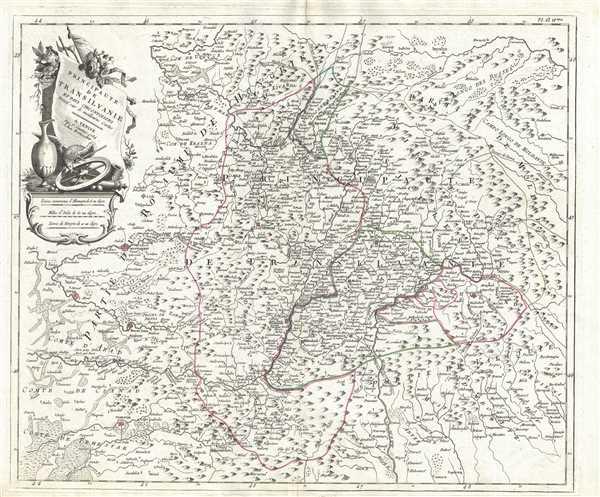 Principaute de Transilvanie et Pays Circonvoisins.