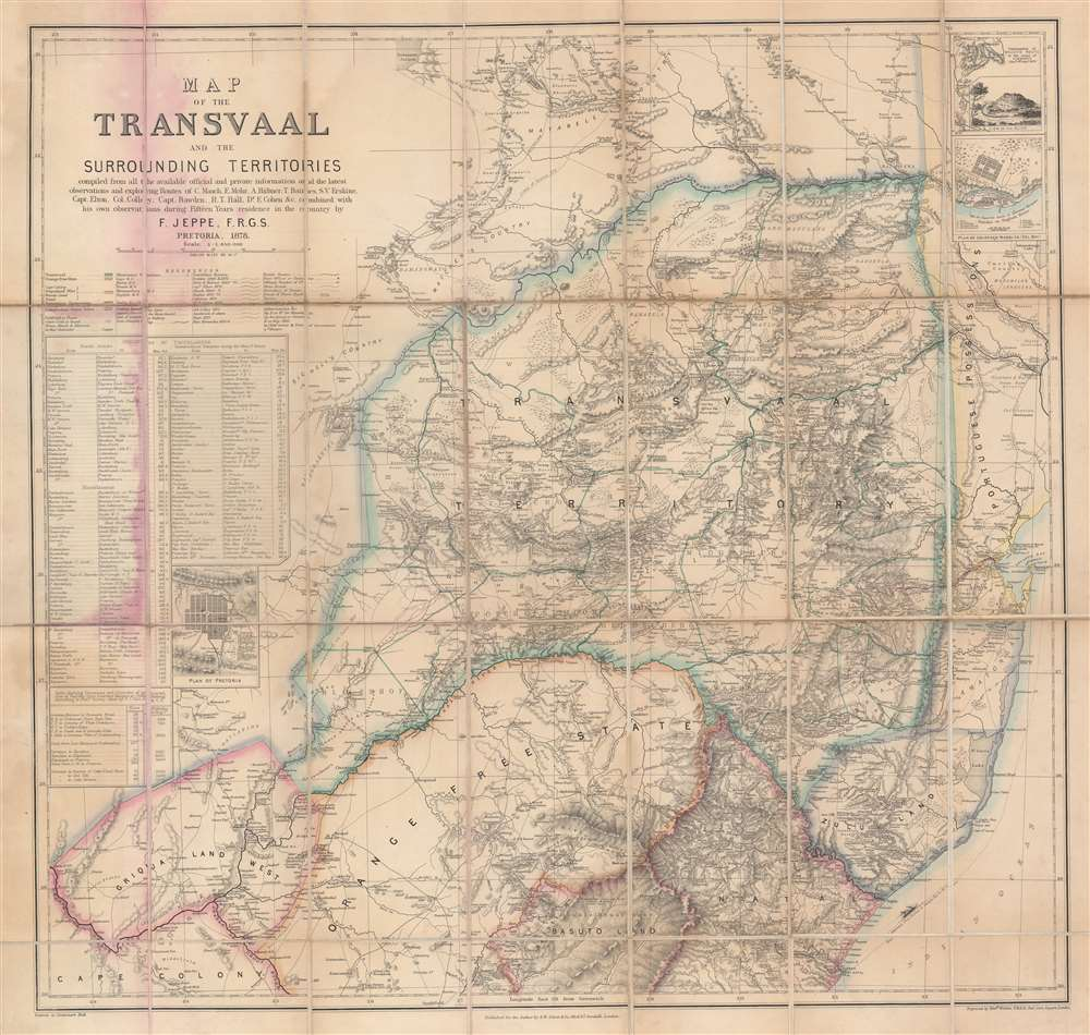 Map of the Transvaal and the Surrounding Territories.