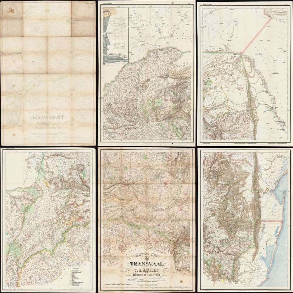 Jeppe's Map of the TRANSVAAL S. A. Republic and Surrounding Territories. - Main View