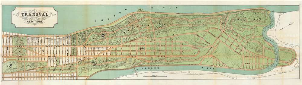 1880 Viele Map of Upper Manhattan (Washington Heights, Fort George, and Inwood)