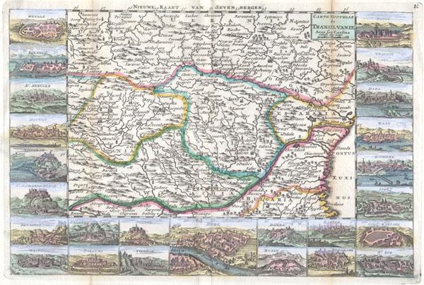 Carte Nouvelle de Transilvanie Avec ses Consins