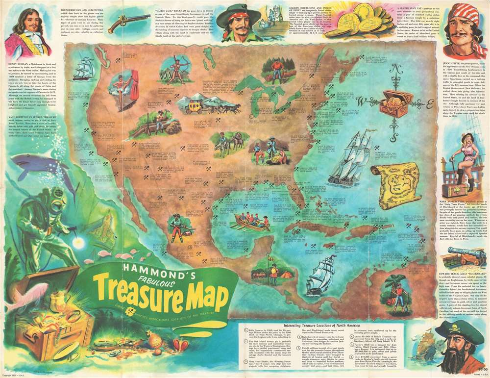 Hammond's Fabulous Treasure Map.