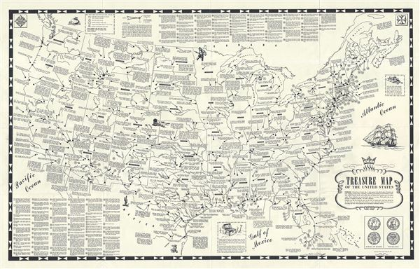 Treasure Map of the United States.