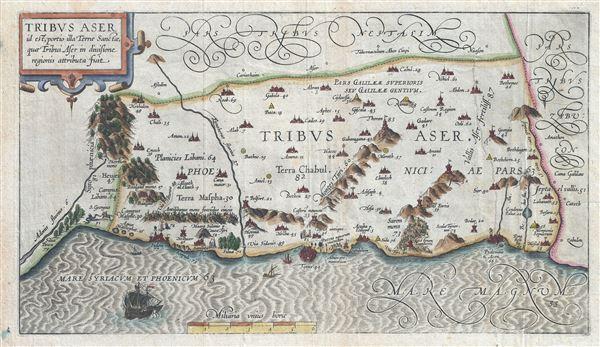 Tribus Aser id est, portio illa Terrae Sancta, quae Tribui Aser in diuisione regionis attributa fuit.