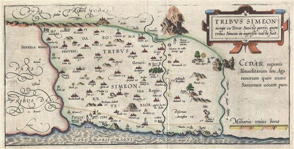 Tribus Simeon nempe ea Terrae Sanctae portio, quam tribus Simeon in ingressu nacta fuit.