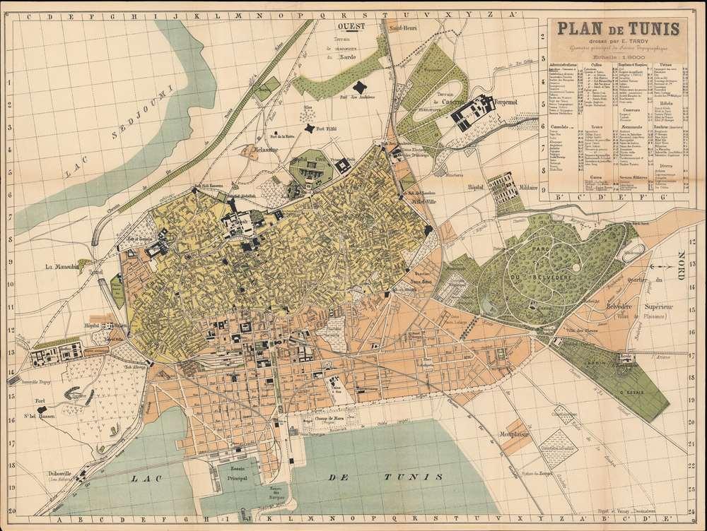Plan de Tunis.