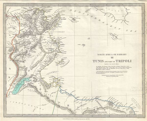 North Africa or Barbary III Tunis and part of Tripoli - Main View