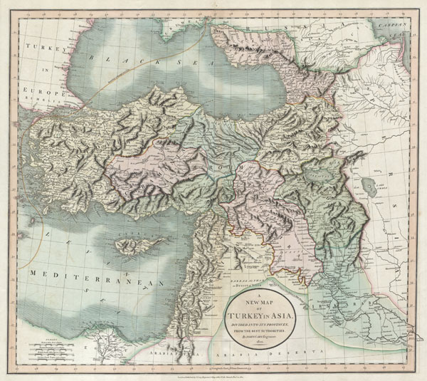 A New Map of Turkey in Asia, Divided into its Provinces, from the Best Authorities. - Main View