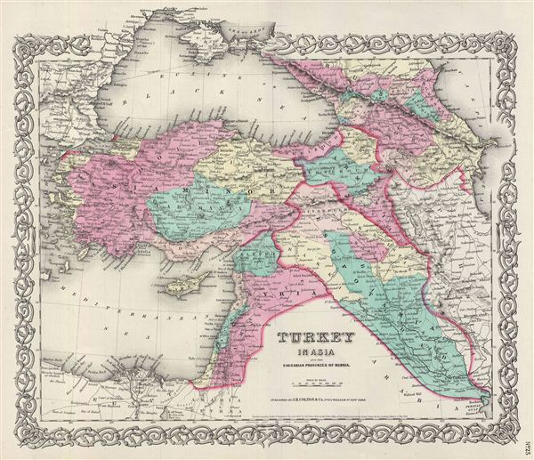 Turkey in Asia and the Caucasian Provinces of Russia. - Main View