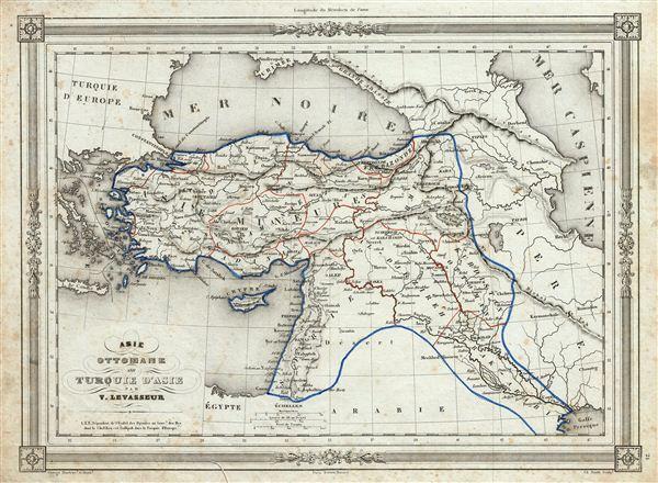 Asie Ottomane ou Turquie d'Asie.