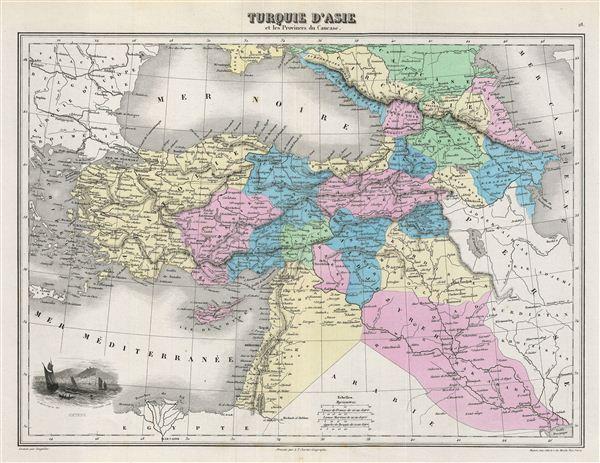 Turquie d'Asie et les Provinces du Caucase.