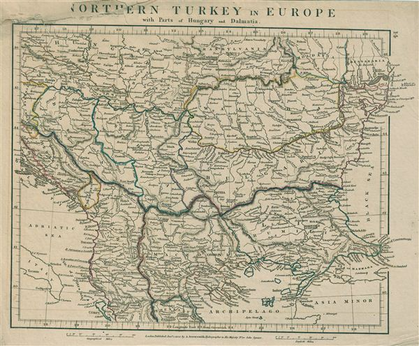 Northern Turkey in Europe with parts of Hungary and Dalmatia.